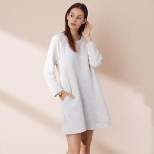 LOU & GRAY Pocket Sweatshirt Dress Terry loop L